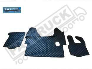 DAF XF 105 MANUAL 2007-2011 TRUCK ECO LEATHER FLOOR SET-BLACK