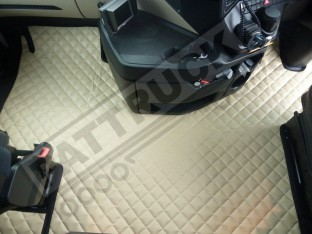 ECO LEATHER FLOOR SET FIT MERCEDES ACTROS MP4 STREAM SPACE CAB -WITH LIFTING PASSENGER SEAT