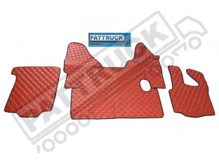 DAF XF 105 MANUAL 2007-2011 TRUCK ECO LEATHER FLOOR SET-RED
