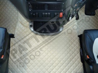 DAF XF 105 AUTOMATIC 2012-2013 TRUCK ECO LEATHER FLOOR SET-BEIGE