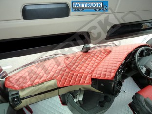 MERCEDES ACTROS MP4 TRUCK ECO LEATHER DASH MAT-RED