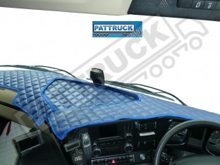 MERCEDES ACTROS MP4 TRUCK ECO LEATHER DASH MAT-BLUE