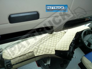 MERCEDES ACTROS MP4 TRUCK ECO LEATHER DASH MAT-BEIGE