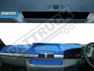 MAN TGX -TRUCK ECO LEATHER DASH MAT-BLUE - WITHOUT BRAKE/LANE SENSOR