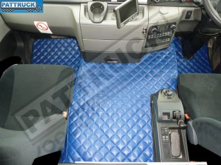 MAN TGS [ NARROW CAB] TRUCK ECO LEATHER FLOOR MATS SET-BLUE - TILL 67 PLATE