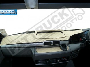MAN TGX -TRUCK ECO LEATHER DASH MAT-BEIGE - WITHOUT BRAKE/LANE SENSOR