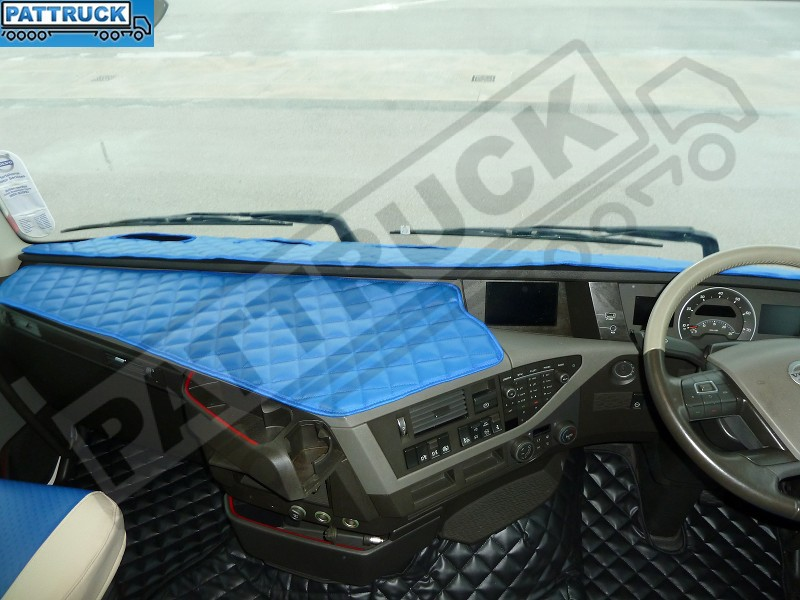 Volvo Fh4 2013 2016 Truck Eco Leather Dash Mat Blue