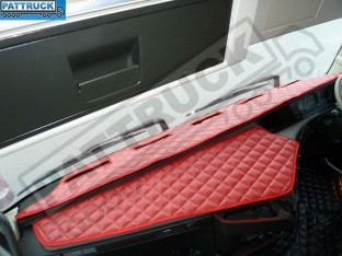 TRUCK ECO LEATHER DASH MAT-RED, COMPATIBLE WITH VOLVO FH4 2013+