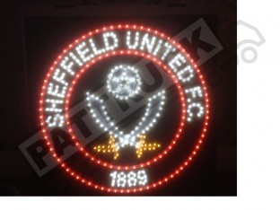 Sheffield United F.C. Truck LED BOARD logo 24V DIMMER +WIRELESS REMOTE 50cm/50cm