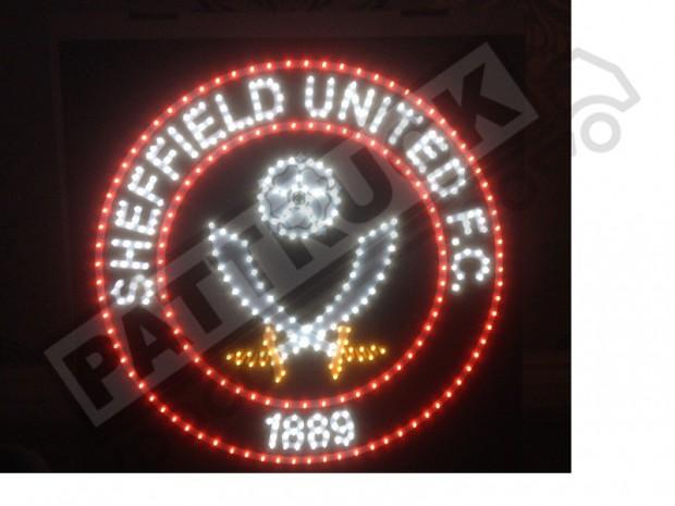 Sheffield United F.C. Truck LED BOARD logo 24V DIMMER +WIRELESS REMOTE 50cm/50cm