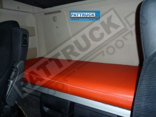 TRUCK ECO LEATHER BED COVER FIT MERCEDES ACTROS MP 4 BIG,GIGA SPACE -RED