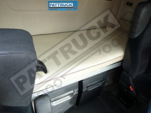 TRUCK ECO LEATHER BED COVER FIT MERCEDES ACTROS MP 4 BIG,GIGA SPACE -BEIGE
