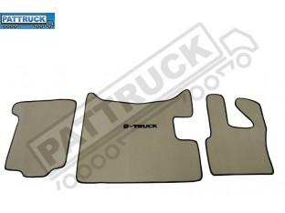 VELOUR FLOOR MATS SET-BEIGE WITH BLACK TRIM FIT DAF XF 105 2012-2013 MANUAL