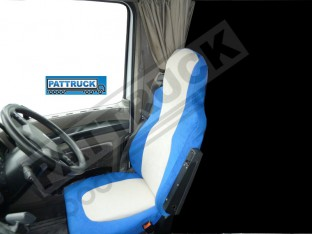 TRUCK SEAT COVERS FIT DAF XF 105 / CF 85 PAIR OF BLUE AND BEIGE