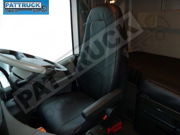 TRUCK ECO LEATHER SEAT COVERS COMPATIBLE WITH VOLVO FH4 2013+ (BLACK )