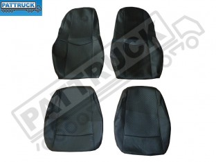 TRUCK ECO LEATHER SEAT COVERS COMPATIBLE WITH VOLVO FH2 2002-2007 (BLACK )