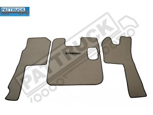 VELOUR [CARPET] FLOOR MATS SET-BEIGE WITH BLACK TRIM FIT SCANIA R 2005-2009 MANUAL