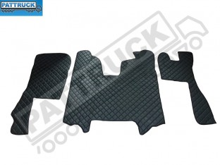 SCANIA R 2009-2012- AUTOMATIC TRUCK ECO LEATHER FLOOR MATS SET-BLACK