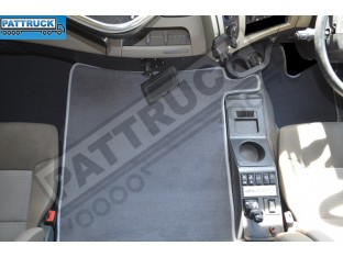 VELOUR FLOOR MATS SET-GREY WITH GREY TRIM FIT RENAULT PREMIUM