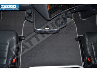 VELOUR [CARPET] FLOOR MATS SET-GREY FIT SCANIA R 2013-17 AUTOMATIC , AIR SEATS