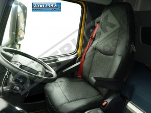 TRUCK ECO LEATHER SEAT COVER COMPATIBLE WITH VOLVO FH3 2008-2013 (BLACK )