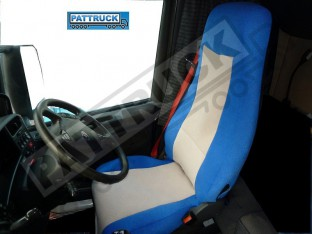 SCANIA R 2005-2012 A PAIR OF BLUE AND BEIGE TRUCK SEAT COVER