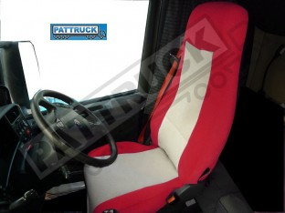 SCANIA R 2005-2012 A PAIR OF RED AND BEIGE TRUCK SEAT COVER