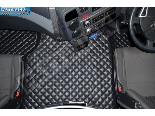 TRUCK ECO LEATHER FLOOR SET-BLACK FIT RENAULT T RANGE WITH ENGINE HUMP