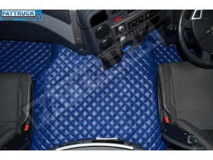 TRUCK ECO LEATHER FLOOR SET-BLUE FIT RENAULT T RANGE WITH ENGINE HUMP