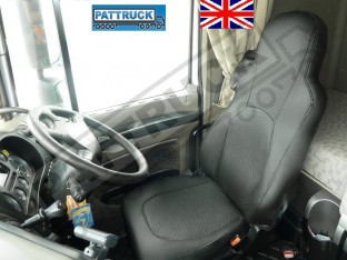 TRUCK ECO LEATHER SEAT COVERS FIT DAF XF 105 / CF 85 PAIR OF BLACK