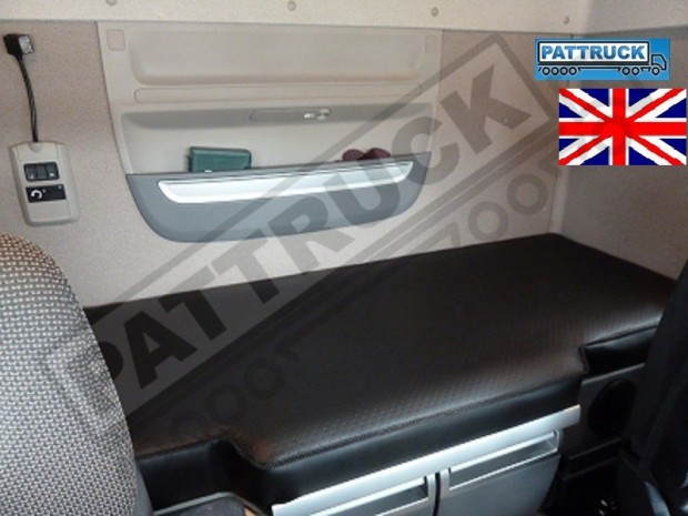 TRUCK ECO LEATHER BED COVER FIT DAF XF 106-BLACK