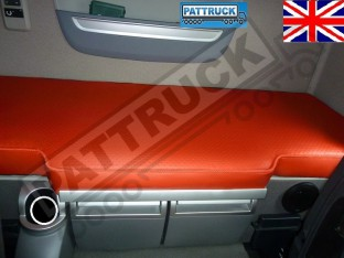 TRUCK ECO LEATHER BED COVER FIT DAF XF 106-RED