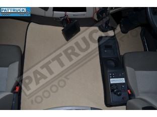 VELOUR FLOOR MATS SET-BEIGE WITH BLACK TRIM FIT RENAULT PREMIUM