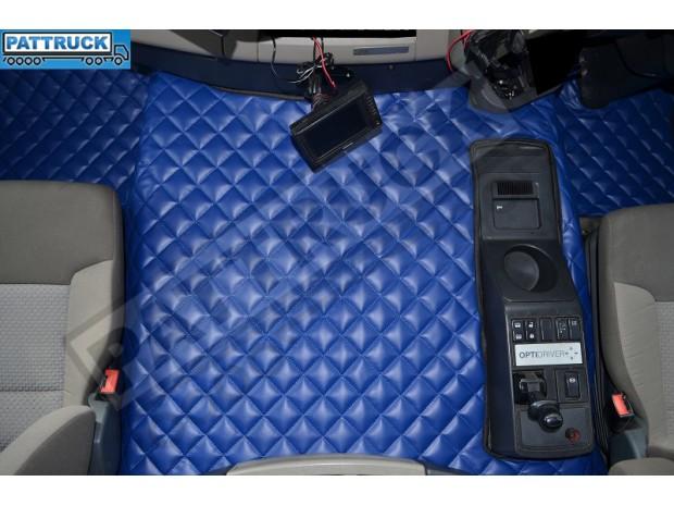 TRUCK ECO LEATHER FLOOR SET-BLUE FIT RENAULT PREMIUM