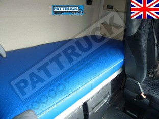 TRUCK ECO LEATHER BED COVER FIT MERCEDES ACTROS MP 4 BIG,GIGA SPACE -BLUE