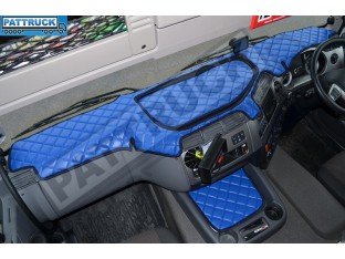 DAF CF EURO 6 - ECO LEATHER DASH MAT-BLUE