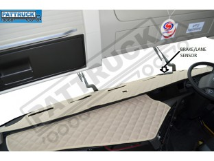 TRUCK ECO LEATHER DASH MAT WITH SPACE FOR SENSOR FIT VOLVO FH4 2013+[ BEIGE ]