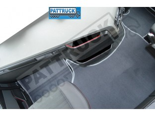 VELOUR FLOOR MATS SET-GREY- COMPATIBLE WITH VOLVO FH4 [FOLDING PASSENGER SEAT]