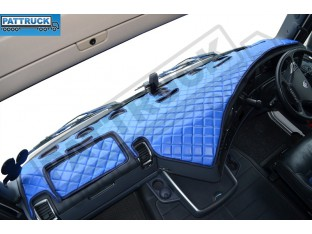 SCANIA R STREAMLINE 2012-17-TRUCK ECO LEATHER DASH MAT-BLUE