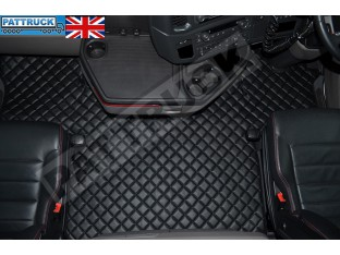 SCANIA S New Generation [ 2017+ ] ECO LEATHER FLOOR SET-BLACK