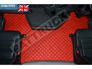 SCANIA S New Generation [ 2017+ ] ECO LEATHER FLOOR SET -RED