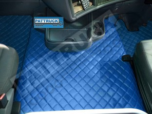 SCANIA R STREAMLINE 2013-2017 AUTOMATIC TRUCK ECO LEATHER FLOOR SET-BLUE