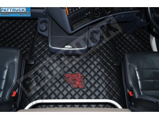 SCANIA R STREAMLINE 2013- 2017 AUTOMATIC - FOLDING PASSENGER SEAT- TRUCK ECO LEATHER FLOOR SET-BLACK