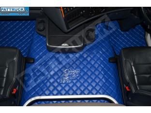 SCANIA R STREAMLINE 2013- 2017 AUTOMATIC - FOLDING PASSENGER SEAT- TRUCK ECO LEATHER FLOOR SET-BLUE