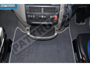 VELOUR FLOOR MATS SET-GREY WITH GREY TRIM FIT DAF XF 105 2012-2013 AUTOMATIC