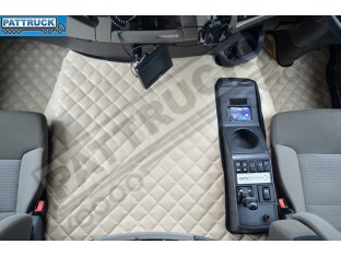 TRUCK ECO LEATHER FLOOR SET-BEIGE FIT RENAULT PREMIUM