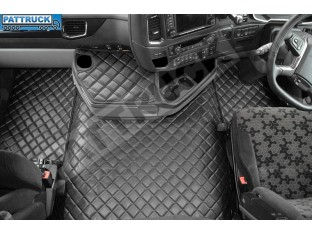 SCANIA S New Generation [ 2017+ ] TWIN AIR SEATS ECO LEATHER FLOOR SET-BLACK