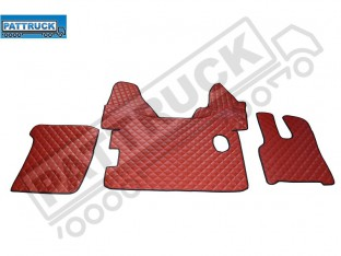 DAF XF 105 2012-13 MANUAL TRUCK ECO LEATHER FLOOR SET-RED