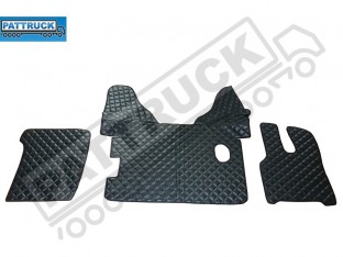DAF XF 105 2012-2013 MANUAL TRUCK ECO LEATHER FLOOR SET-BLACK