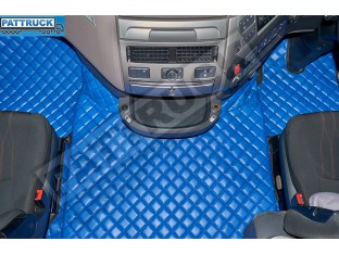 DAF XF 106 AUTOMATIC AFTER 67 PLATE- TRUCK ECO LEATHER FLOOR SET-BLUE